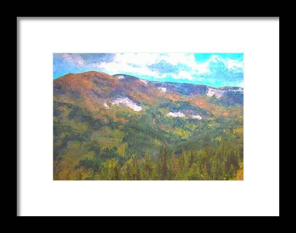 Colorado Landscape Art Framed Print featuring the painting At The Top by Trula Walker