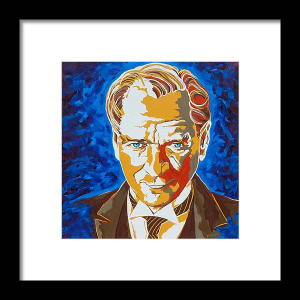 Turkey Framed Print featuring the painting Ataturk by Dennis McCann
