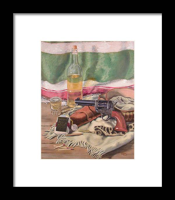 Oil Framed Print featuring the painting Atf 1880 by Todd Cooper