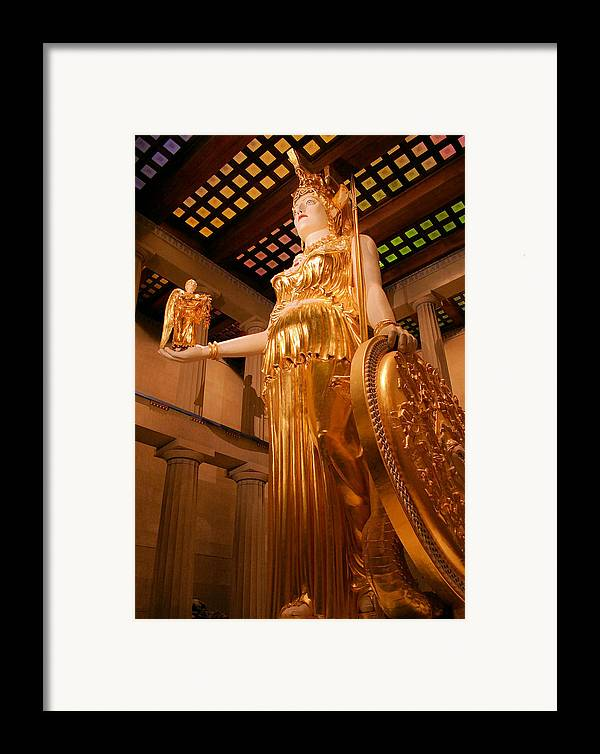 Athena Framed Print featuring the photograph Athena With Nike by Kristin Elmquist