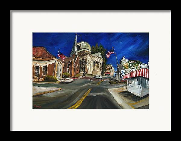 Athens Al Framed Print featuring the painting Athens Al by Carole Foret