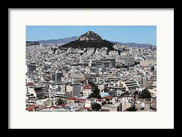 Athens City View Framed Print featuring the photograph Athens City View by John Rizzuto