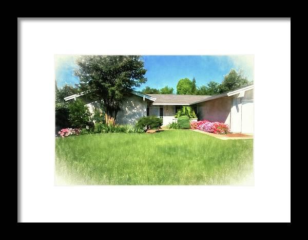 Framed Print featuring the digital art Atlanta 50 by Terry Davis