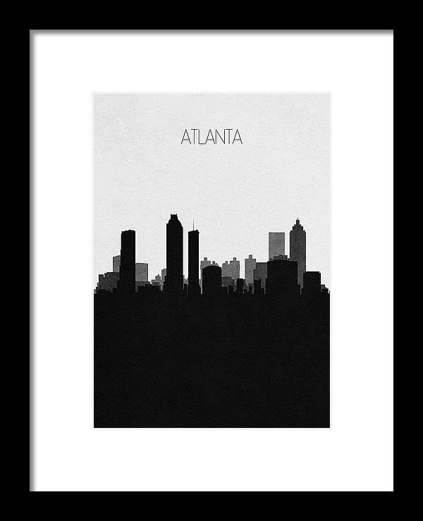 Atlanta Framed Print featuring the digital art Atlanta Cityscape Art by Inspirowl Design