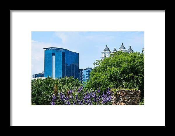 Atlanta Botanical Garden Framed Print featuring the photograph Atlanta Skyline From Atlanta Botanical Garden by Mary Ann Artz