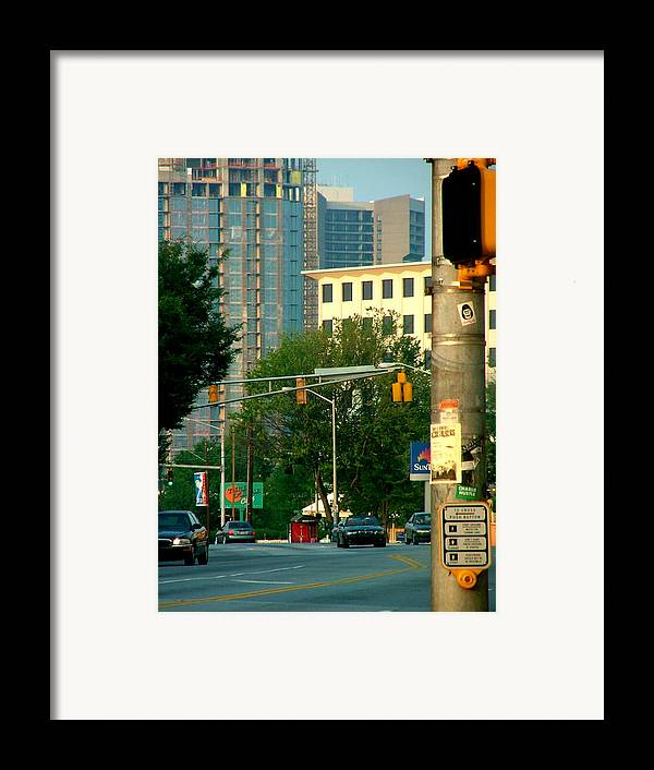Streetscape Framed Print featuring the photograph Atlanta Street Scape by Donna Thomas