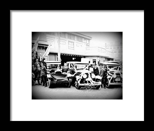 Alantic City Nj. 1928 Framed Print featuring the photograph Atlantic City 1st Taxi Convention by Don Kemper