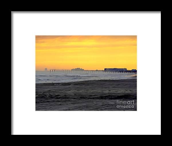 Digital Art Framed Print featuring the digital art Atlantic City At Dusk by Ed Weidman