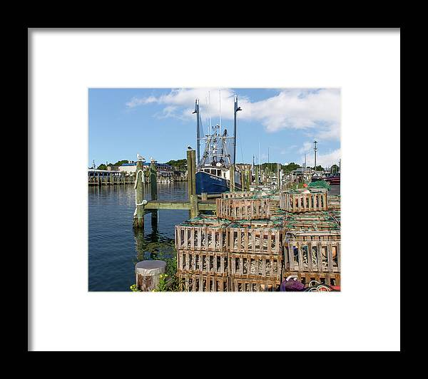 Delaware Framed Print featuring the mixed media Atlantic Girl by Capt Gerry Hare