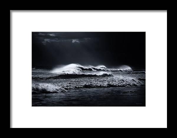 Atlantic Ocean Framed Print featuring the photograph Atlantic Ocean by Dapixara Art