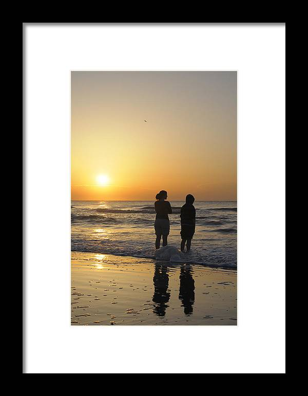 Kids Framed Print featuring the photograph Atlantic Ocean Sunrise - Vertical by Darrell Young