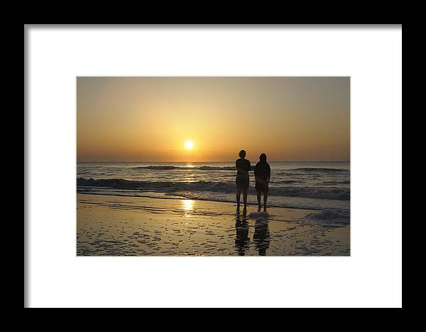 Kids Framed Print featuring the photograph Atlantic Ocean Sunrise by Darrell Young