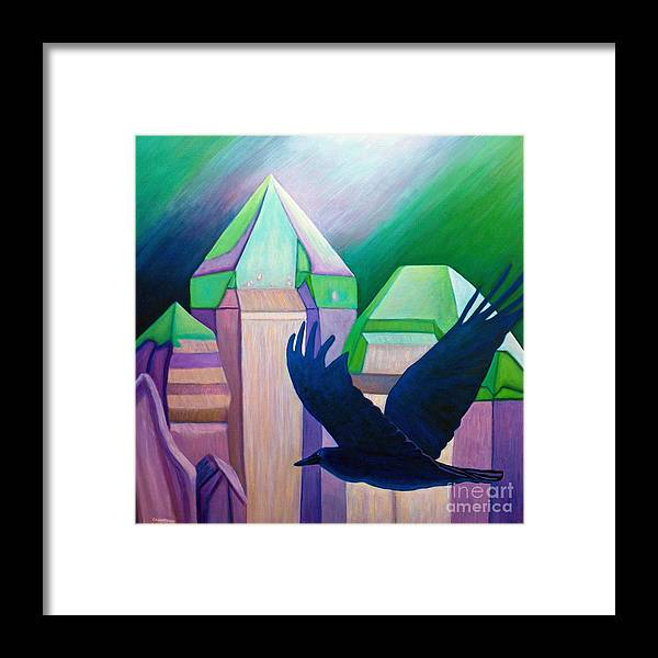 Crystals Framed Print featuring the painting Atlantis by Brian Commerford