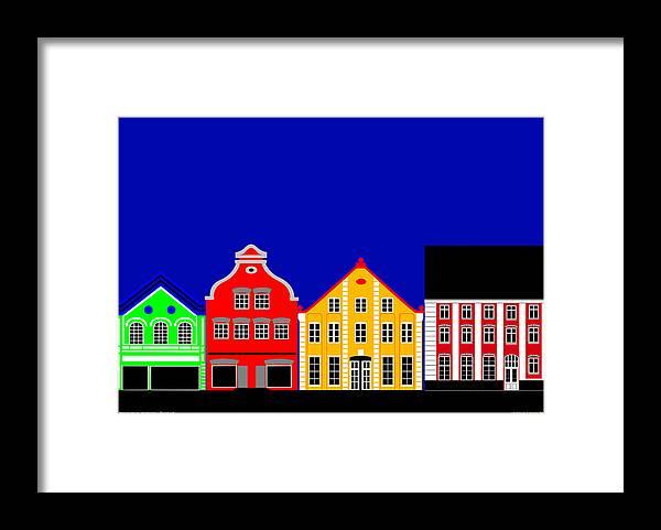 Atmosphere Framed Print featuring the digital art Atmosphere Haderslev Denmark by Asbjorn Lonvig