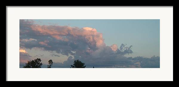 Sky Framed Print featuring the photograph Atmospheric Barcode 04 08 2008 1 by Donald Burroughs