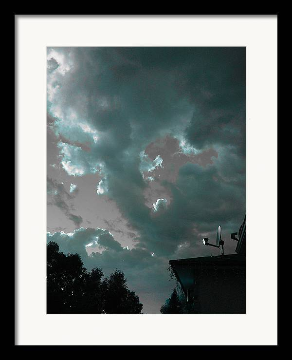 Sky Framed Print featuring the photograph Atmospheric Barcode 14 6 2008 2 by Donald Burroughs