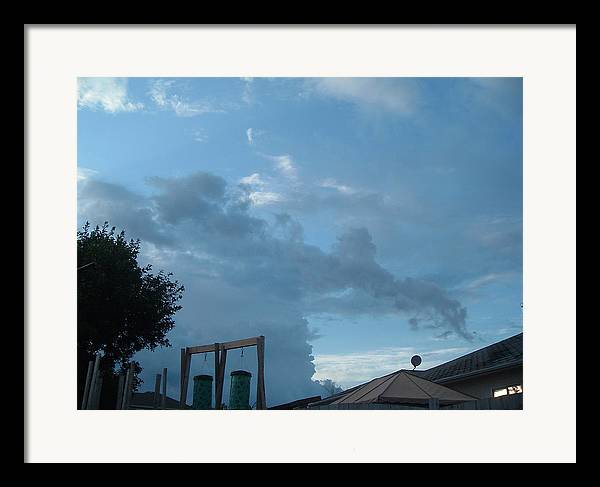 Sky Framed Print featuring the photograph Atmospheric Barcode 19 7 2008 18 Or Titan by Donald Burroughs