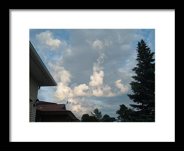 Clouds Framed Print featuring the photograph Atmospheric Barcode 19 7 2008 20 by Donald Burroughs