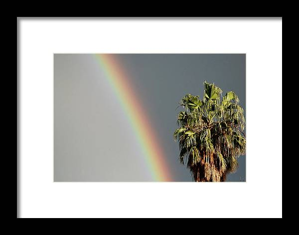 Rainbow Framed Print featuring the photograph Atmospheric Bisection by Glenn Kory