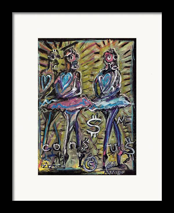 Rwjr Framed Print featuring the painting Atomic Ballet by Robert Wolverton Jr