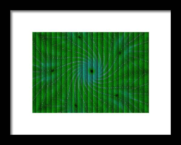 Modern Art Framed Print featuring the painting Attempt L B by Gert J Rheeders