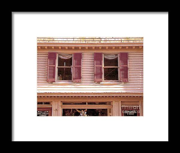Store Framed Print featuring the photograph Attic Antiques And Things by Merton Allen