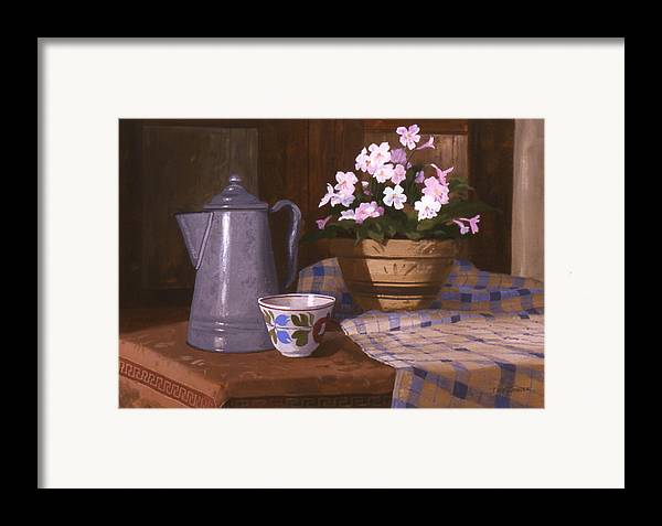 Antiques Framed Print featuring the painting Attic Treasures by Faye Ziegler