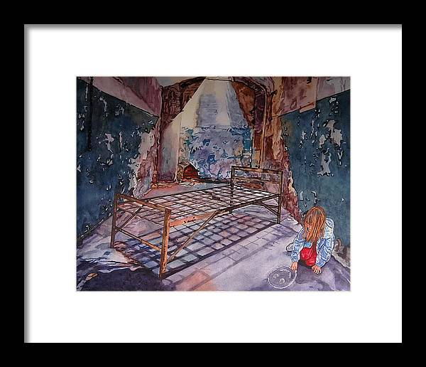 Social Commentary Framed Print featuring the painting Attitude by Valerie Patterson