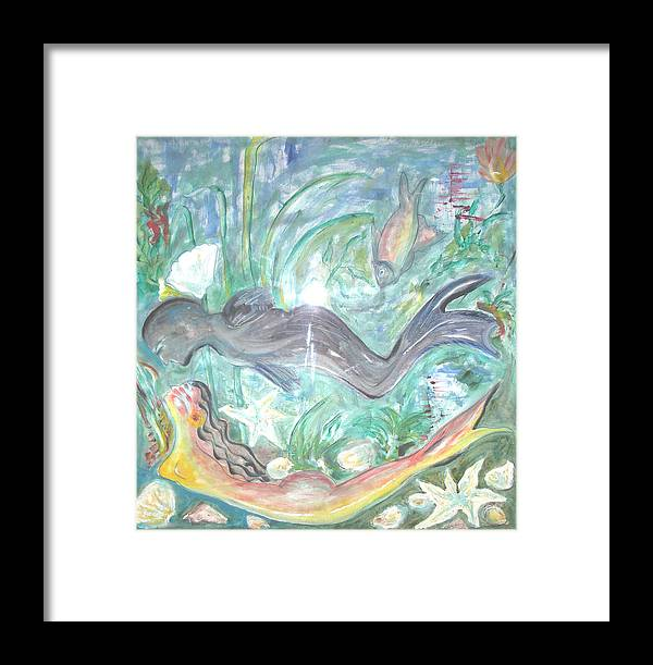 Couple Framed Print featuring the painting Attraction by Narayanan Ramachandran
