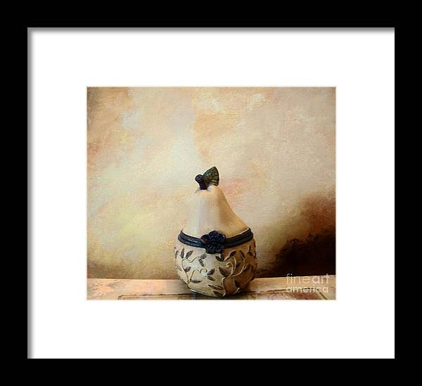Photo Framed Print featuring the photograph Au Pear by Marsha Heiken