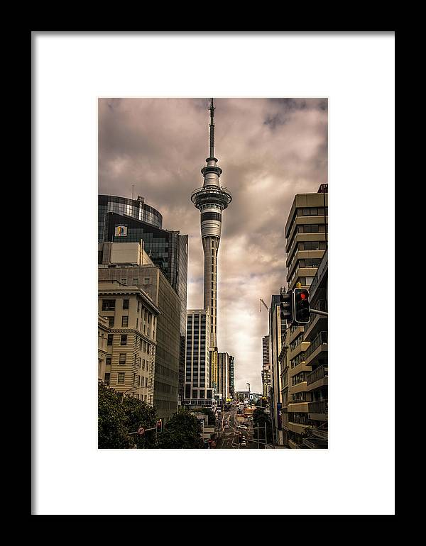 Auckland Framed Print featuring the photograph Auckland Sky Tower by Larry Jones