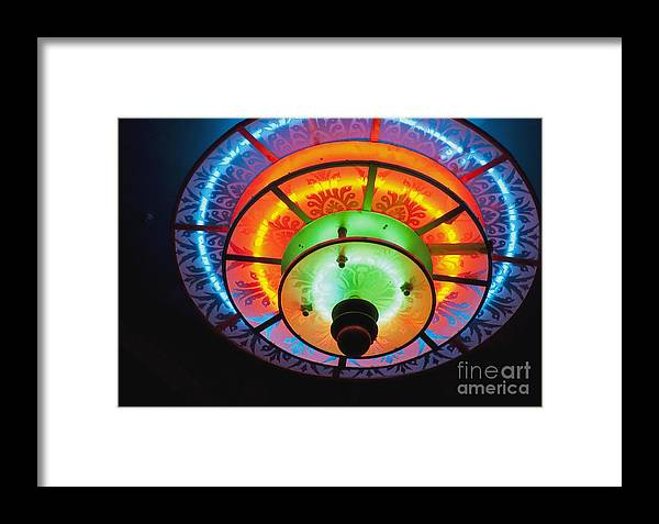 Kansas Framed Print featuring the photograph Auditorium Neon by Fred Lassmann