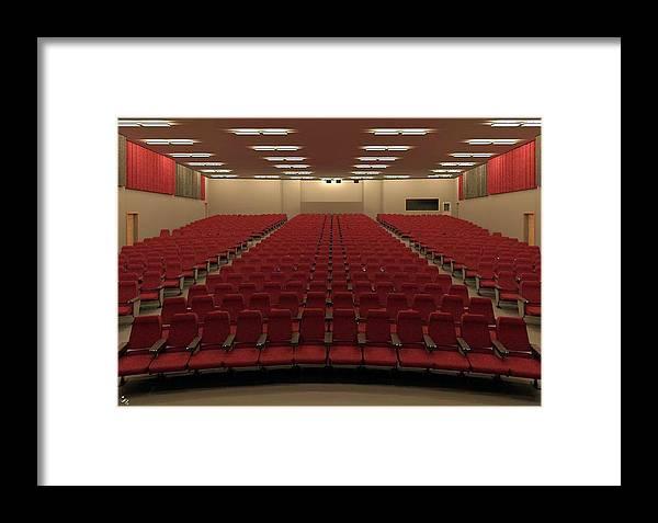 Rendering Framed Print featuring the digital art Auditorium by Ron Bissett