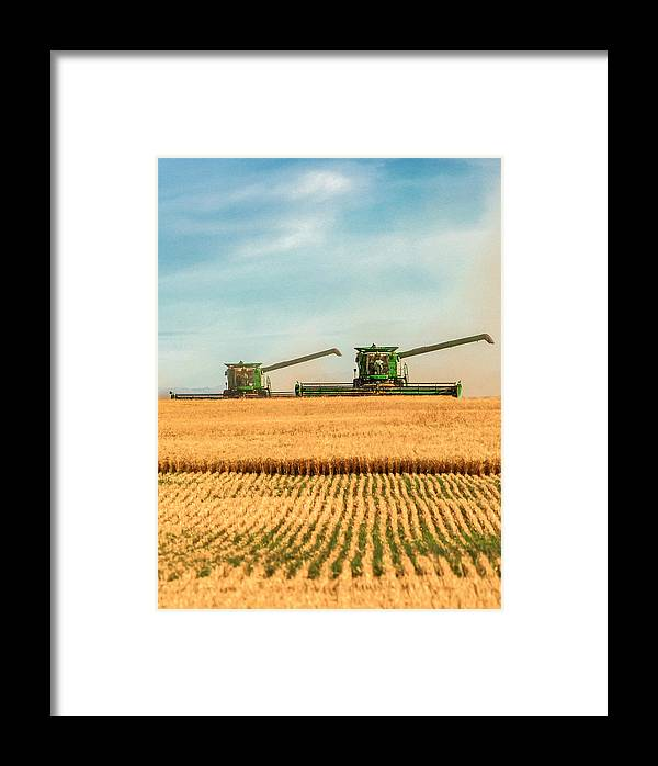 Wheat Framed Print featuring the photograph Augers Out by Todd Klassy