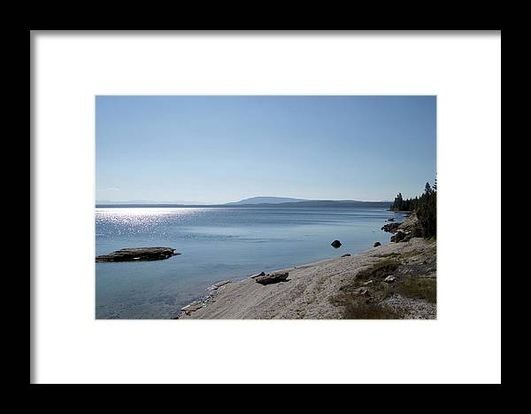 Yellowstone National Park Framed Print featuring the photograph August High Noon Yellowstone Lake 02 by Thomas Woolworth