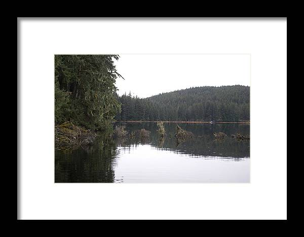 Juneau Framed Print featuring the photograph Auke Lake by Jeffrey Ober
