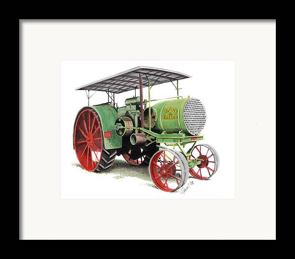 Tractor Framed Print featuring the painting Aultman And Taylor Tractor by Ferrel Cordle