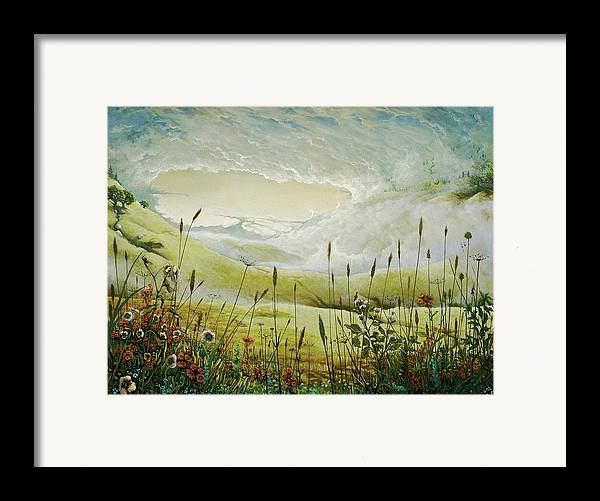 Clouds Framed Print featuring the print AUM by Boris Koodrin