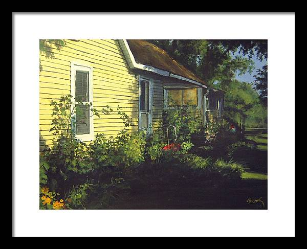 Country Framed Print featuring the painting Aunt Betty by William Brody
