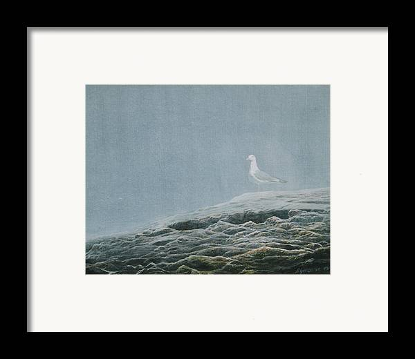 Wildlife Framed Print featuring the painting Aura At Odiorne by Steve Greco