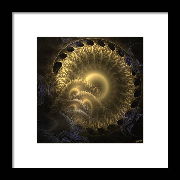 Abstract Framed Print featuring the digital art Aureate-2 by Casey Kotas