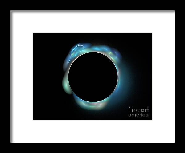 Digital Framed Print featuring the digital art Aurora Borealis From The Dark Side by Thomas Smith