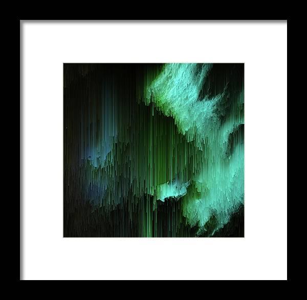 Trippy Framed Print featuring the digital art Aurora Borealis by Jennifer Walsh