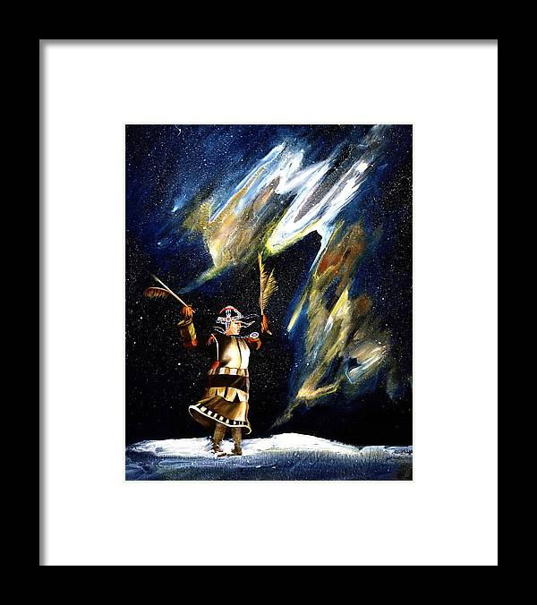 Alaska Framed Print featuring the painting Aurora Dancer by Dianne Roberson