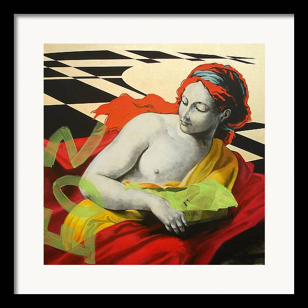 Mythology Framed Print featuring the painting Aurora by Jean Pierre Rousselet