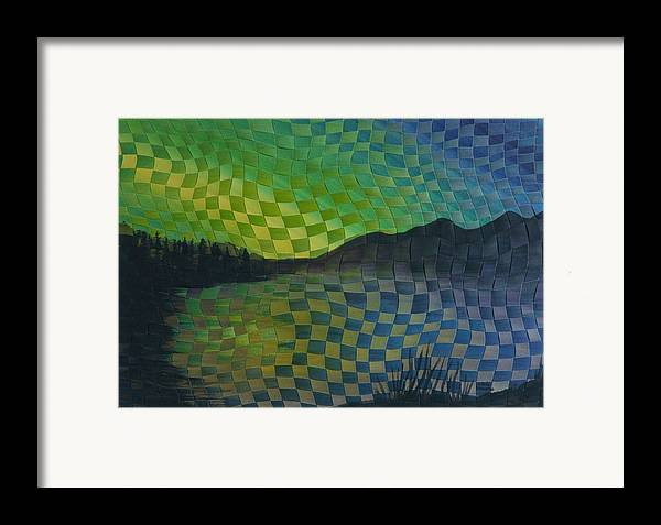 Landscape Framed Print featuring the painting Aurora by Linda L Doucette