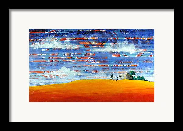 Landscape Framed Print featuring the painting Aurora by Rollin Kocsis