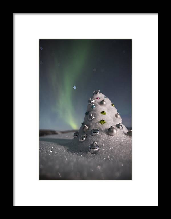 Framed Print featuring the photograph Auroral Christmas Tree by Ian Johnson