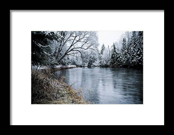 Scenic Framed Print featuring the photograph Ausable Winter by Todd Bissonette