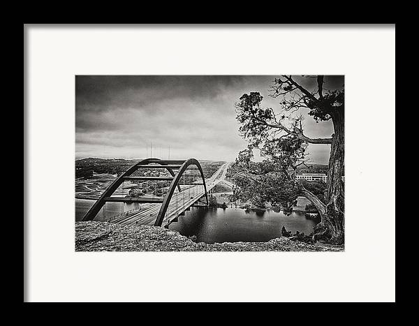 360 Bridge Framed Print featuring the photograph Austin 360 Bridge In Early Dawn by Lisa Spencer